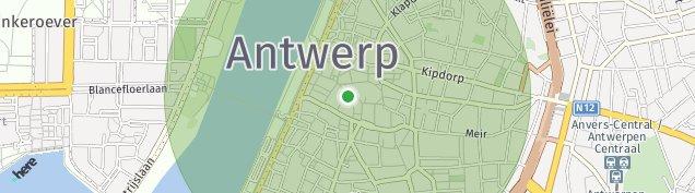 Map of Antwerpen