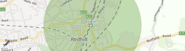 Map of Redhill