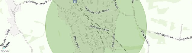 Map of Oxted