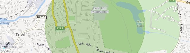 Map of Maidstone