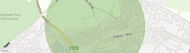 Map of Basingstoke