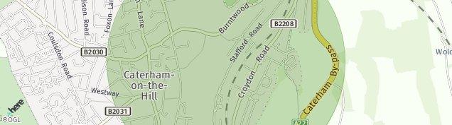 Map of Caterham