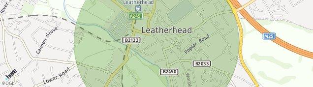 Map of Leatherhead