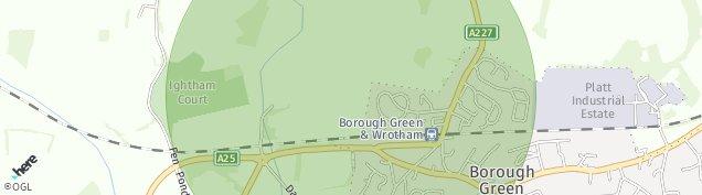 Map of Borough Green