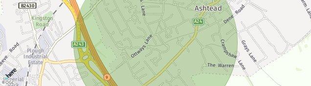 Map of Ashtead