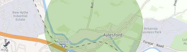 Map of Aylesford