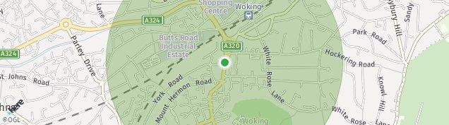 Map of Woking