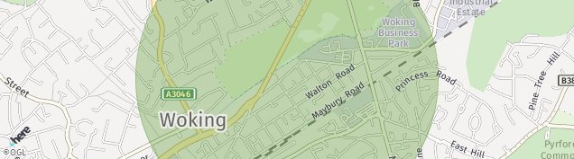 Map of Woking
