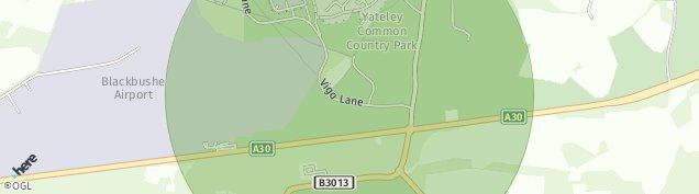 Map of Yateley