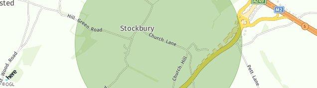 Map of Stockbury