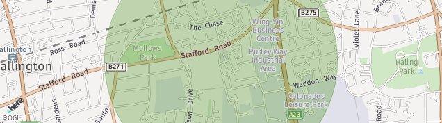 Map of Wallington