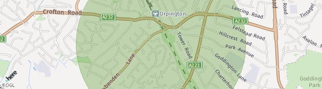 Map of Orpington