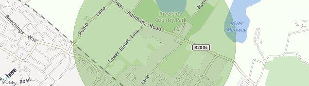 Map of Rainham