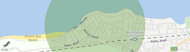 Map of Birchington