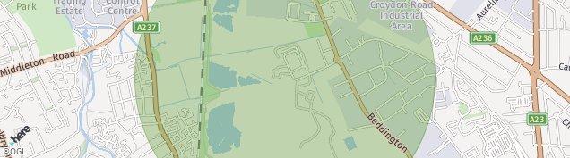 Map of Croydon