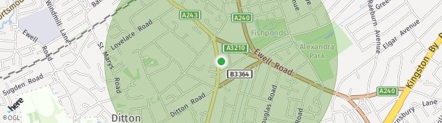 Map of Long Ditton