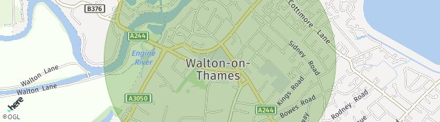 Map of Weybridge