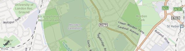 Map of Morden
