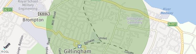Map of Gillingham