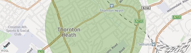 Map of Thornton Heath
