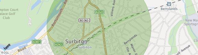 Map of Surbiton