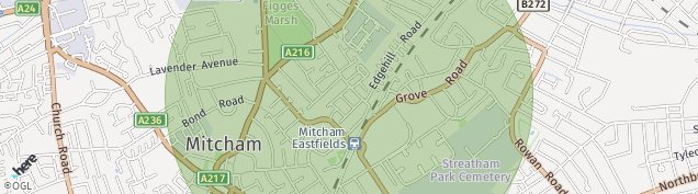 Map of Mitcham