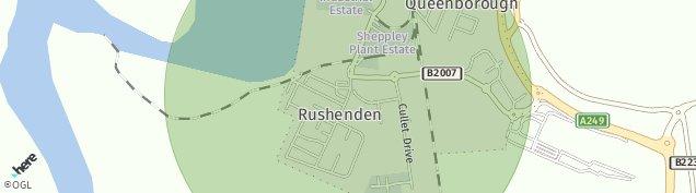 Map of Queenborough