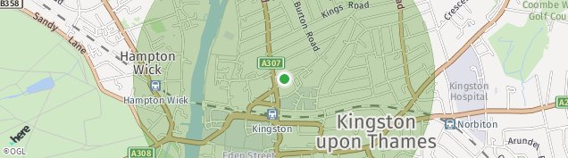Map of Kingston Upon Thames