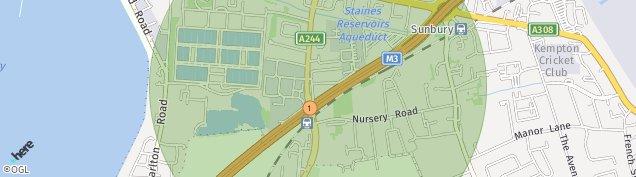 Map of Sunbury-on-Thames