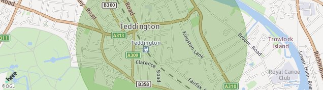Map of Teddington