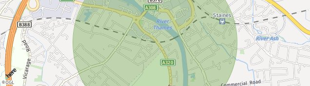 Map of Staines-upon-thames