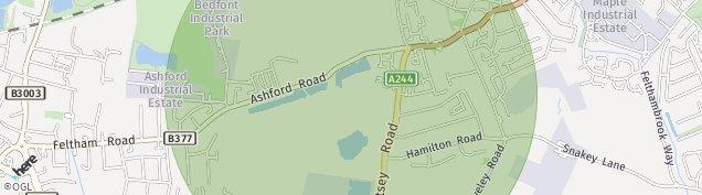 Map of Feltham