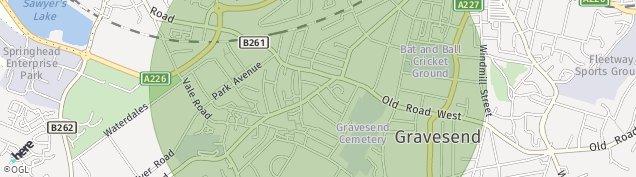 Map of Gravesend