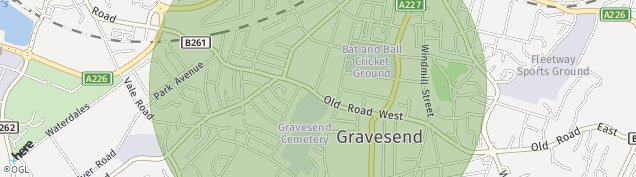 Map of Gravesend