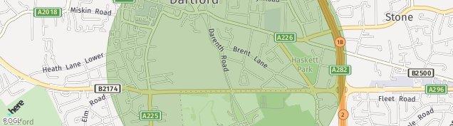Map of Dartford