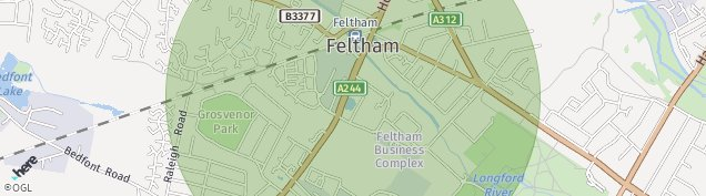 Map of Feltham