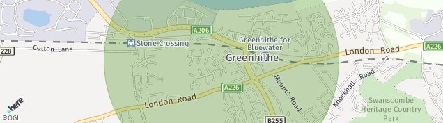 Map of Greenhithe