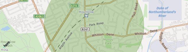 Map of Hounslow