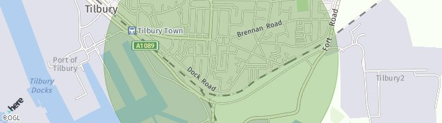 Map of Tilbury
