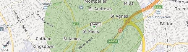 Map of St. Pauls