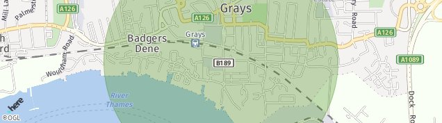Map of Grays