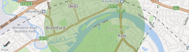 Map of Brentford