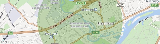 Map of Brentford
