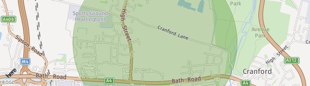 Map of Harlington