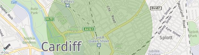 Map of Cardiff