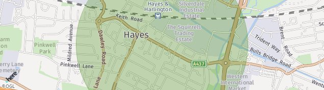 Map of Hayes