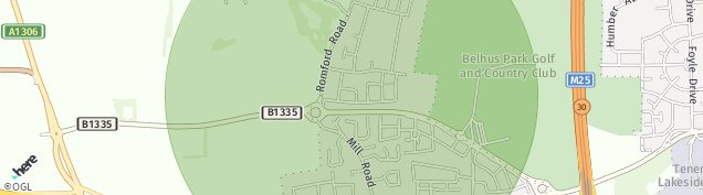 Map of Aveley