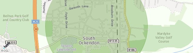 Map of South Ockendon