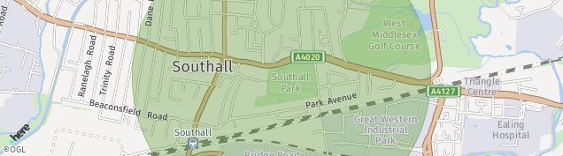 Map of Southall