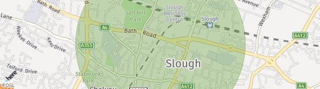 Map of Slough